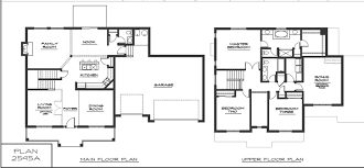 modern two house plans two floor plans two floor plans 3 bedrooms
