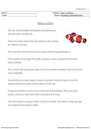 primaryleap co uk reading comprehension what is a fish non