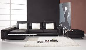 Contemporary Black Leather Sofa Modern Leather By Vig Furniture