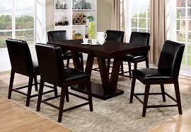 furniture of america cm3357pt espresso finish v base counter