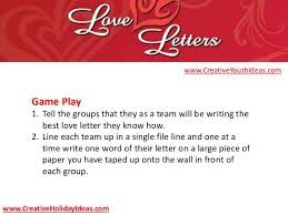 youth ministry ideas valentine u0027s day love letters