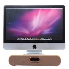 ordinateur apple de bureau original samdi en bois noyer calculer stand pour apple imac pc
