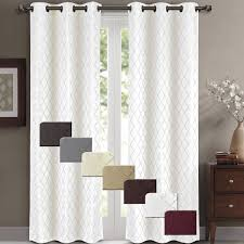amazon com willow jacquard burgundy grommet blackout window