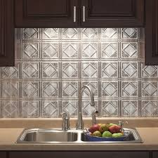 fasade kitchen backsplash panels fasade traditional style 4 crosshatch silver backsplash panel