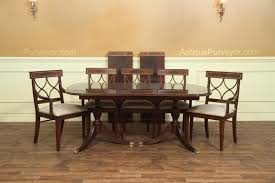 new american made antique style double pedestal dining table