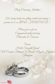 ceremony cards ring ceremony invitation free cards
