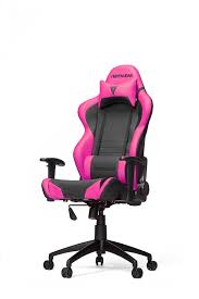 furniture black and pink pu leather game desk chair with