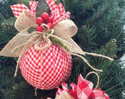 ornaments set of 2 homespun ornaments