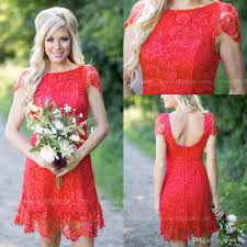popular country style bridesmaid dresses lace buy cheap country