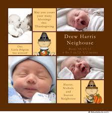 pumpkin photo birth announcement fall baby orange