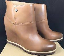 s ugg australia emilie boots ugg australia high 3 in and up leather s us size 8 ebay