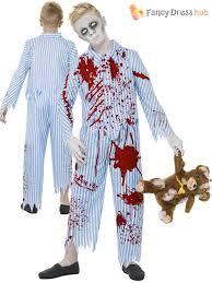 child zombie pyjama boy walking dead fancy dress kids