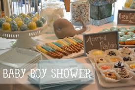Baby Shower Centerpieces For Boy by Whale Baby Boy Shower Ideas