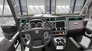 2017 kenworth interior wood for kenworth w900 for american truck simulator