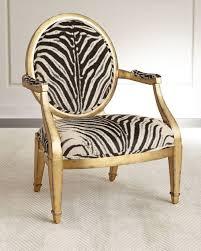 Animal Print Accent Chair Marlon Zebra Print Accent Chair Neiman