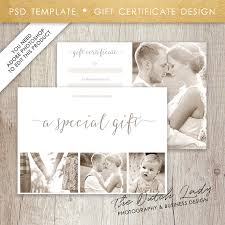photography gift certificate template design 8 instant