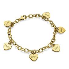 personalized gold bracelets gold plated personalized heart charm bracelet