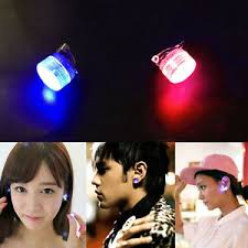 led earrings led earrings light up bling ear studs blue and flash
