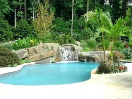 pools with waterfalls inground pool waterfalls an artificial stone waterfall with lush