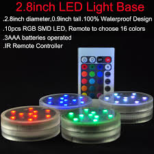 3aaa battery operated ir remote controlled 10 multicolors smd led