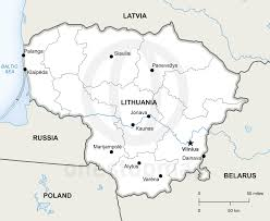 Blank India Map With State Boundaries by Vector Map Of Lithuania Political Lithuania