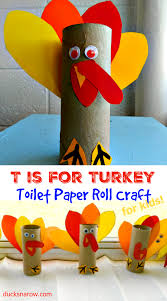 t is for turkey toilet paper roll craft for preschoolers ducks