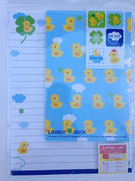 letter writing paper sets amazon com lovely duck rubber ducky cute japanese writing paper amazon com lovely duck rubber ducky cute japanese writing paper stationery with stickers and envelopes office products