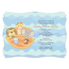noah ark baby shower noah s ark personalized baby shower invitations