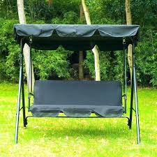 patio swing with canopy deluxe costco replacement and cushions