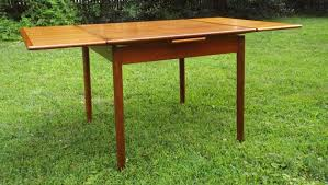 table with slide out leaves vintage danish modern teak square dining table with two pull out