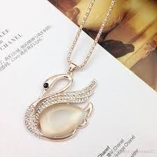 gem key necklace images Wholesale fashion rose gold sweater chain stone necklaces pendants jpg