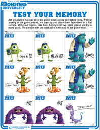 monsters university memory cards