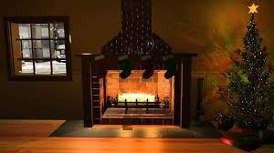 christmas fireplace scene youtube