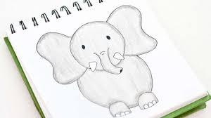 how to easily draw a cute cartoon elephant diy crafts tutorial