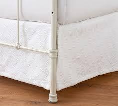 Bed Frame Skirt Reeve Matelasse Organic Daybed Bed Skirt Pottery Barn