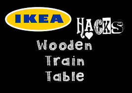diy wooden train table ikea hack youtube