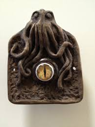 octopus decor doorbell with glass eye by occulence on etsy 40 00 cthulhu