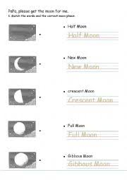 english worksheet papa please get the moon for me