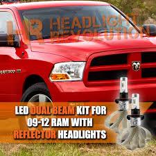 2009 dodge ram 1500 headlight bulbs 2009 2012 dodge ram reflector dual beam led h13 headlight bulbs
