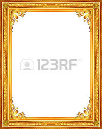 gold frame louis picture vector abstract design royalty free