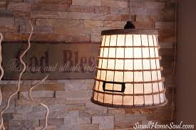Diy Pendant Light Shade Diy Hanging Light From A Wire Basket Small Home Soul