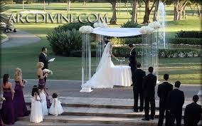 wedding arches rental miami acrylic plexiglass wedding canopy rental from arc miami