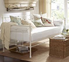 White Metal Daybed With Trundle Daybed With Trundle Pottery Barn