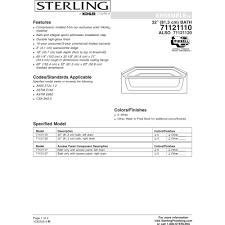 sterling 71121120 0 ensemble white soaking tubs tubs u0026 whirlpools