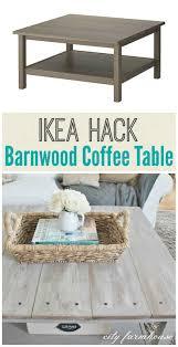 ikea hacked barnboard coffee table tutorial barnwood coffee
