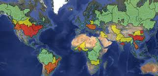worlds rivers map pr state of the world s rivers project documents decline in