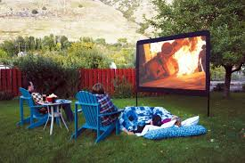 turn your backyard into a movie theater brit co