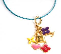 Monogrammed Pendant Necklace Louis Vuitton Sweet Monogram Pendant Necklace Multicolor 55457