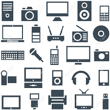 Electronics Gadgets Icon Set Of Gadgets Computer Equipment And Electronics Royalty