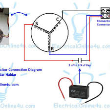 ceiling fan motor capacitor wiring diagram circuit and